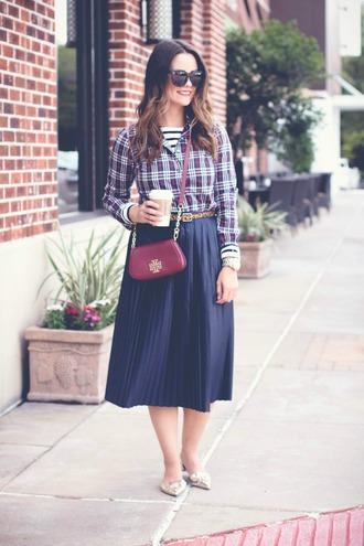 live more beautifully blogger top t-shirt skirt shoes bag sunglasses jewels belt make-up