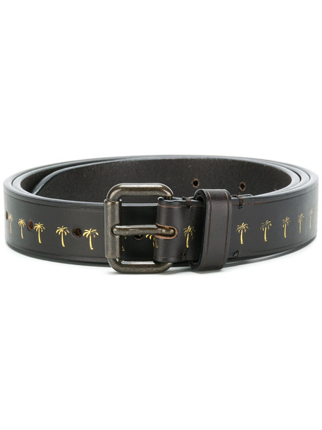 women belt leather brown