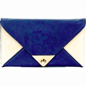 bag,clutch,blue,80s style,white,envelope clutch,oversized envelope clutch,two tone,black