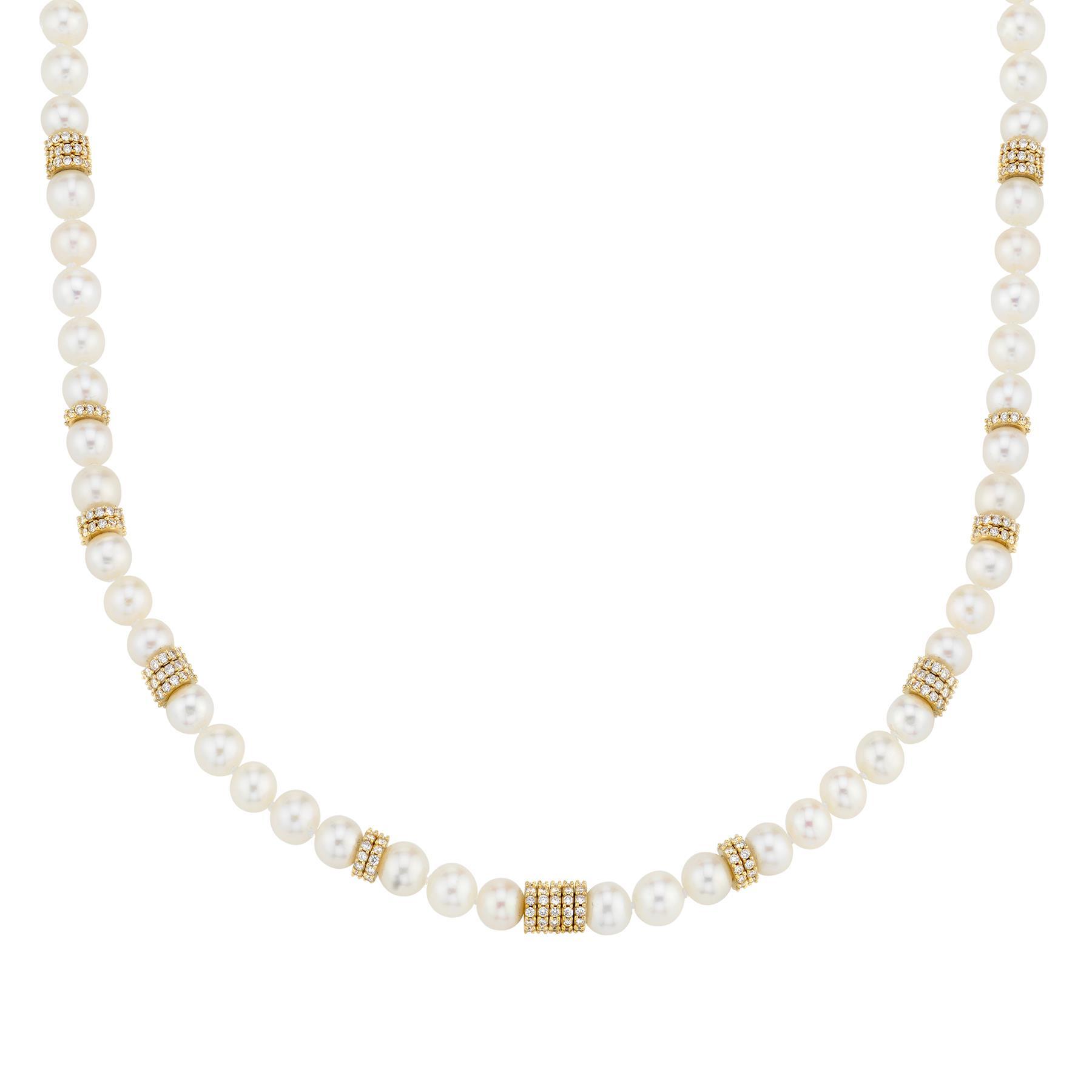 DIAMOND AND PEARL RASA NECKLACE