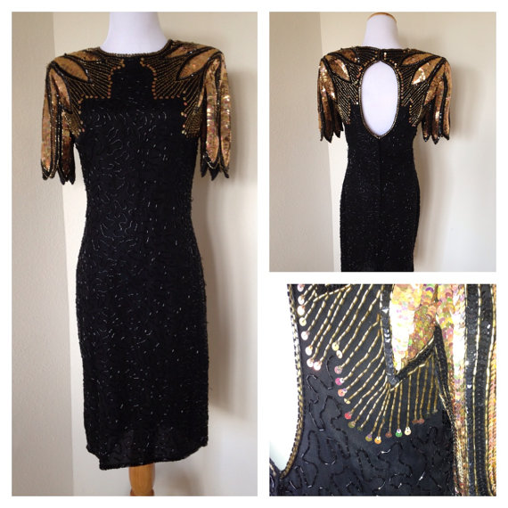 Hollywood Glam Vintage beaded dress by ShastaBrookVintage