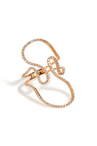 open rose gold rose diamonds ring gold white silver jewels