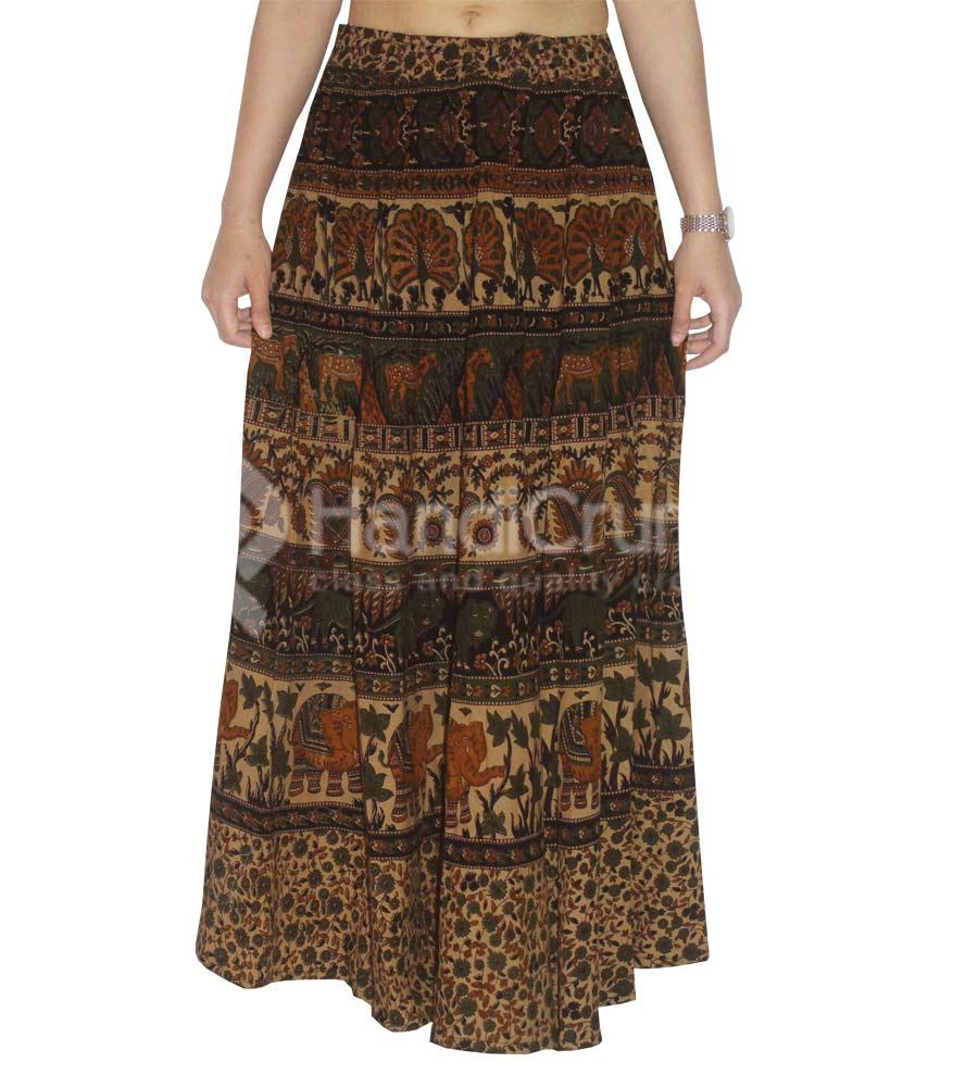Jaipuri Animal Printed Rapron Long Skirt
