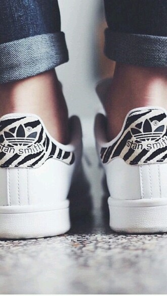 shoes stan smith zebra black and white shoes style adidas nike shoes love