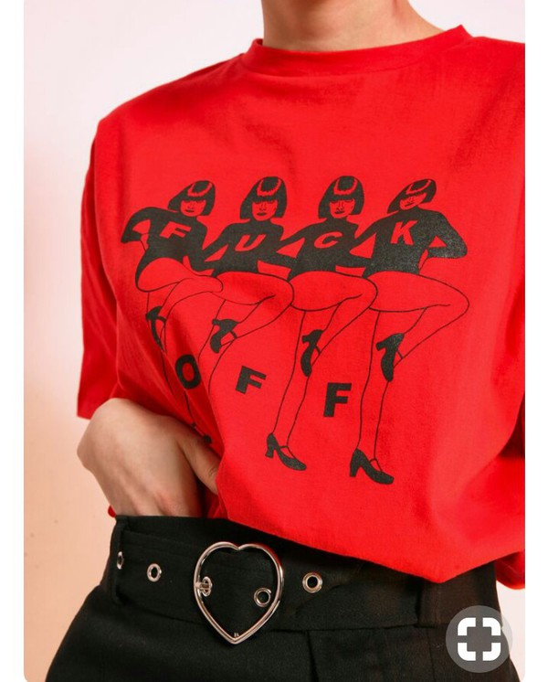 T shirt red fuck off wheretoget for Get fucked t shirt