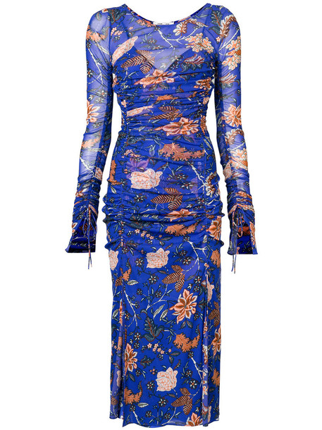 Dvf Diane Von Furstenberg dress floral dress women floral blue