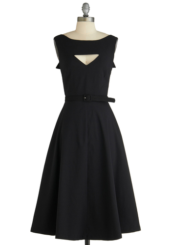 Bettie Page The Evening Unfolds Dress in Black | Mod Retro Vintage Dresses | ModCloth.com