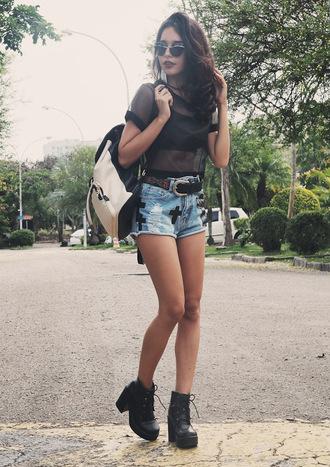 instinto devestir blogger top sunglasses