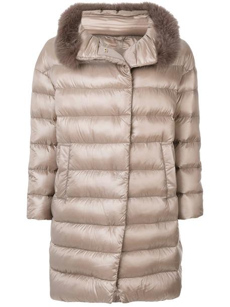 Herno coat fur women cotton grey