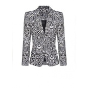 jacket,print,geometric print,suit jacket,geometric,floral,blouse,coat
