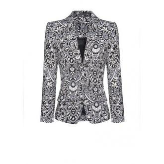 jacket print geometric print suit jacket geometric floral blouse coat