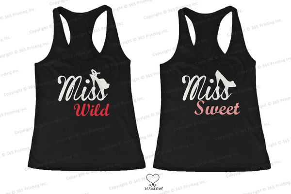 tank top miss wild miss sweet sweet and wild matching tank tops matching shirts for best friends matching shirts statement shirts bff bff bff shirts bff tank tops
