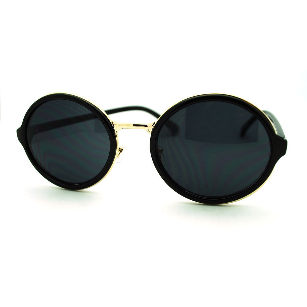 Round Gold Bridge Sunglasses – Belle Soirée