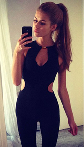 jumpsuit,dream it wear it,clothes,black,black jumpsuit,cut-out,cut-out jumpsuits,summer jumpsuit,summer outfits,spring outfits,classy,clubwear,date outfit,bodycon,sexy outfit,cute,girly