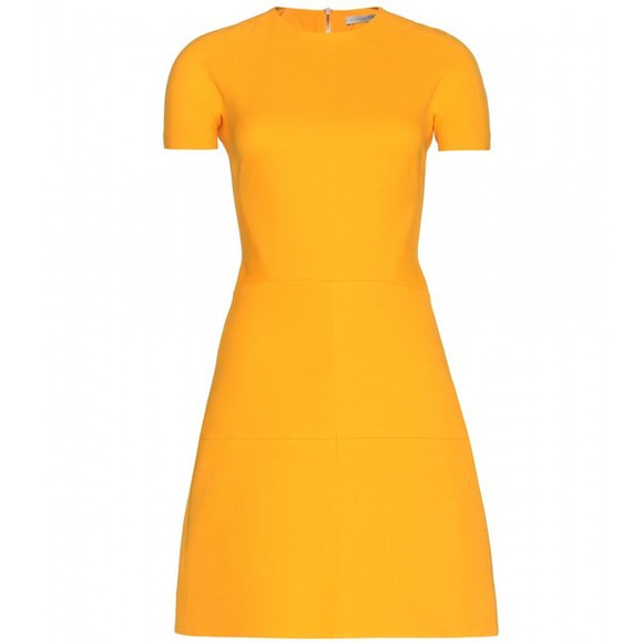 dress victoria beckham victoria beckham silk and wool-blend crepe dress silk and wool-blend crepe dress