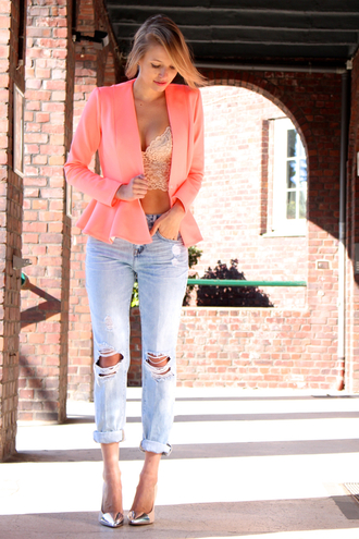 ohh couture jacket jeans t-shirt bag shoes