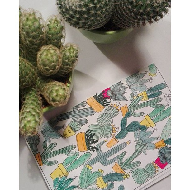 Home Accessory Yeah Bunny Colorme Cactus Cacti Coloringbook Plants Yeahbunnycolorme