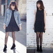 dress,little black dress,loose,fall dress