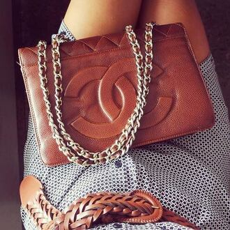 bag chanel brown tanned dark luxury chanel bag leather summer winter outfits fall outfits spring shoulder bag chain