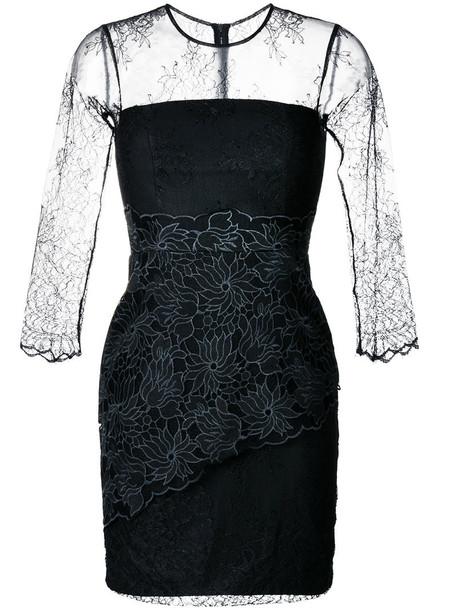 Three Floor dress lace dress women lace black