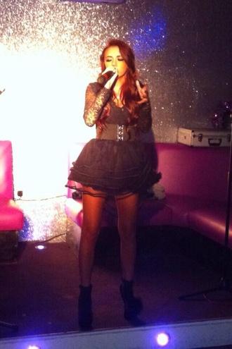 dress lydia lucy little black dress tutu tutu dress celebrity style celebrity black
