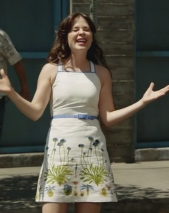 new girl zooey deschanel floral dress