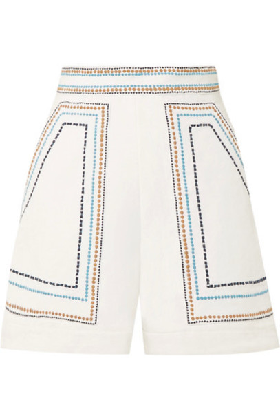 Talitha shorts embroidered white cotton