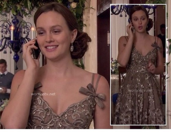 leighton meester dress blair waldorf gossip girl