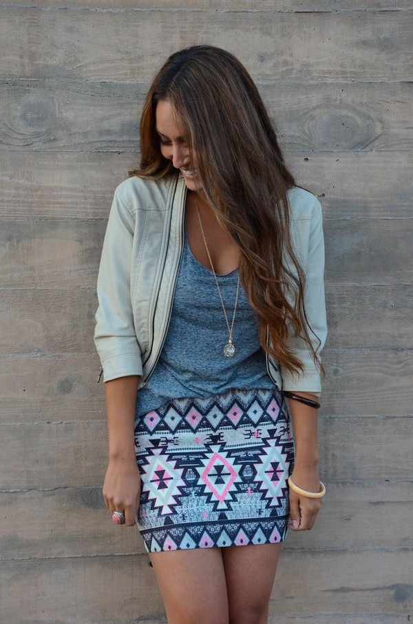 skirt tribal pattern pattern shirt aztec