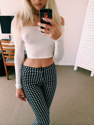 jeans plaid check checkered high waisted monochrome hot pants hot pants checkered pants sexy