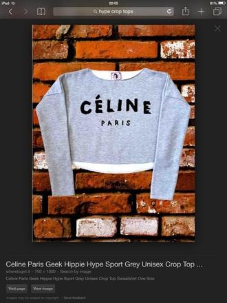 sweater grey celine paris