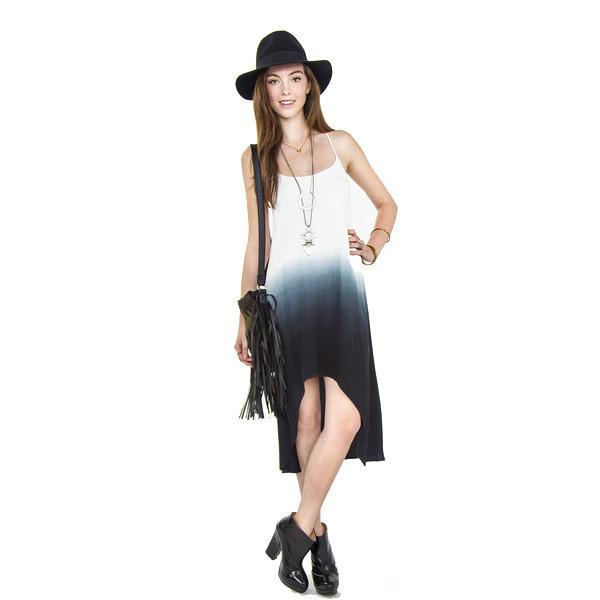 dress on run tie dye tye ombre blue white makeup table vanity row dress to kill style hippie