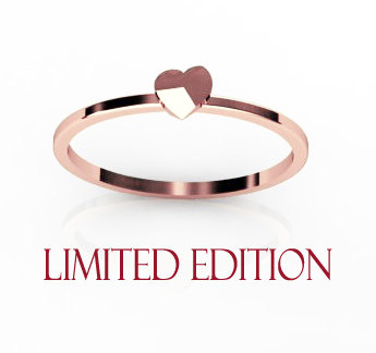 14k rose gold unusual heart ring limited edition by chicjoaillerie