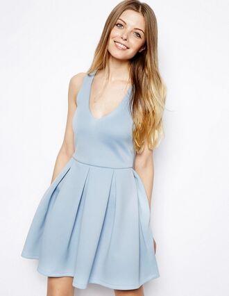 dress light blue v neck dress pretty flowy