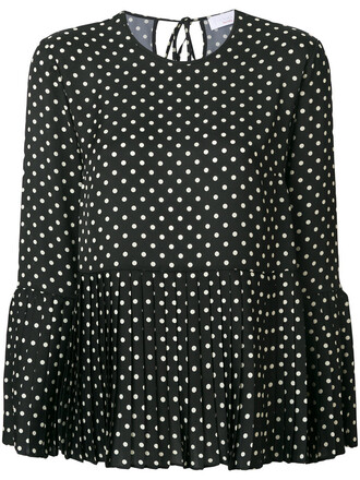 blouse women black top