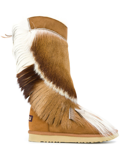 Mou women suede brown shoes