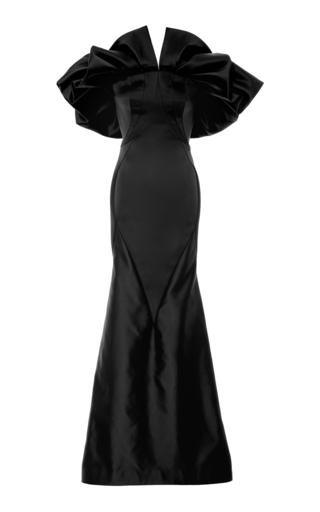 Pleated Shoulder Gown by Zac Posen | Moda Operandi