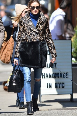 shoes ankle boots denim jeans olivia palermo