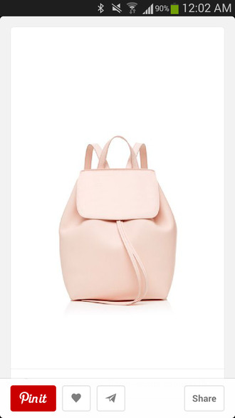 bag blush pink backpack leather bag pastel pink leather backpack pastel bag classy blouse