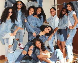 jeans c0cocurls dope photoshoot melanin beauty black girls killin it denim vans smiles young and beautiful bts ripped new york city new yorkers $$$$