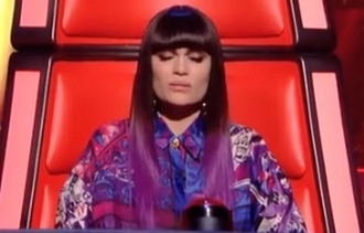 blouse purple blue white the voice jessie j