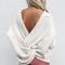 In a dream ivory twisted detail sweater