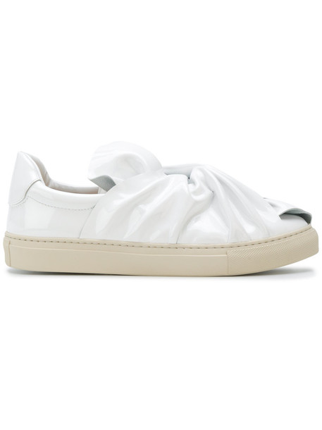 oversized women sneakers leather white shoes
