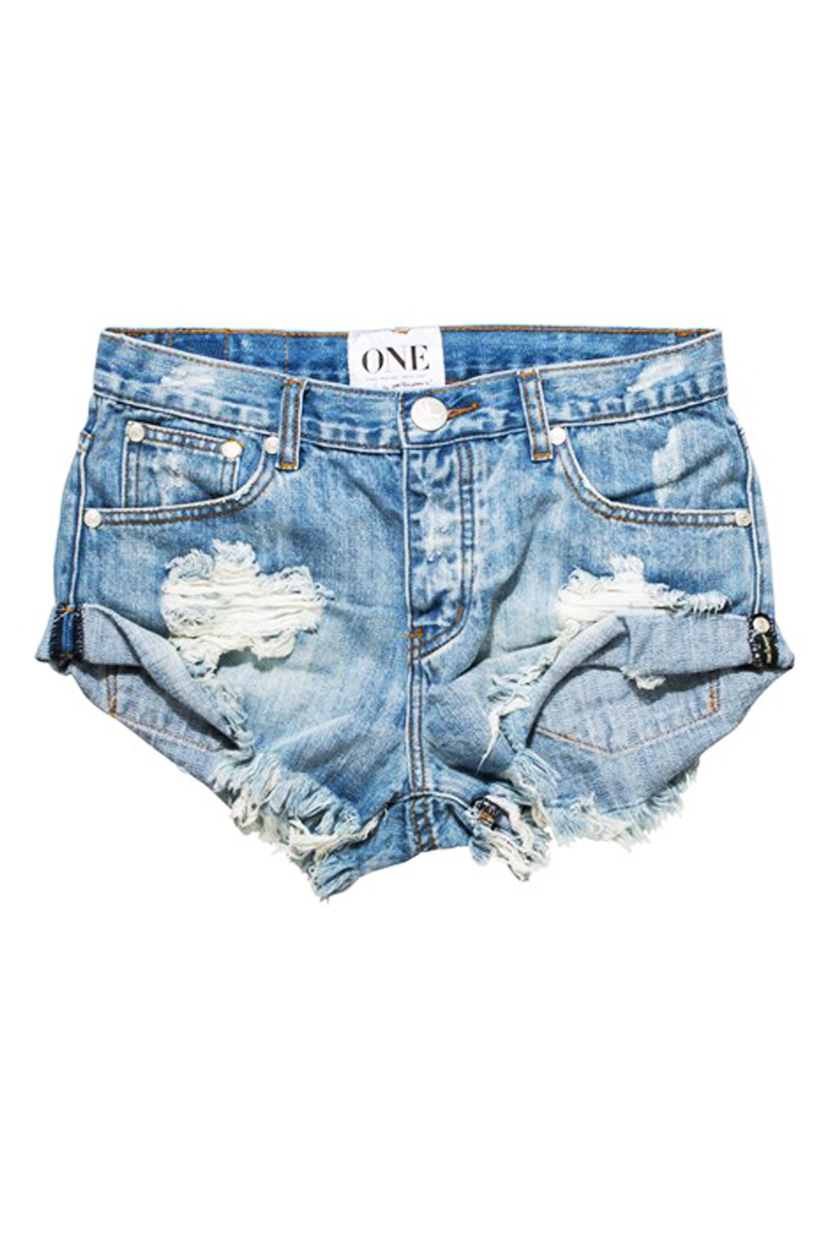 One Teaspoon Hendrix Bandit Shorts HENDRIX BANDITS Light Denim