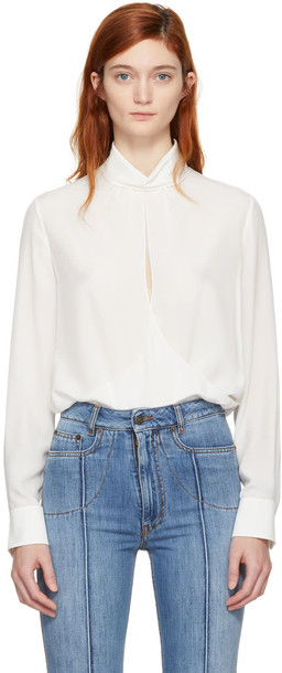 Chloe blouse open white off-white top
