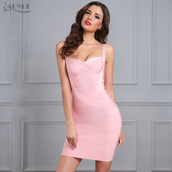 dress,bandage dress,bodycon dress,pink dress,party dress,sexy dress