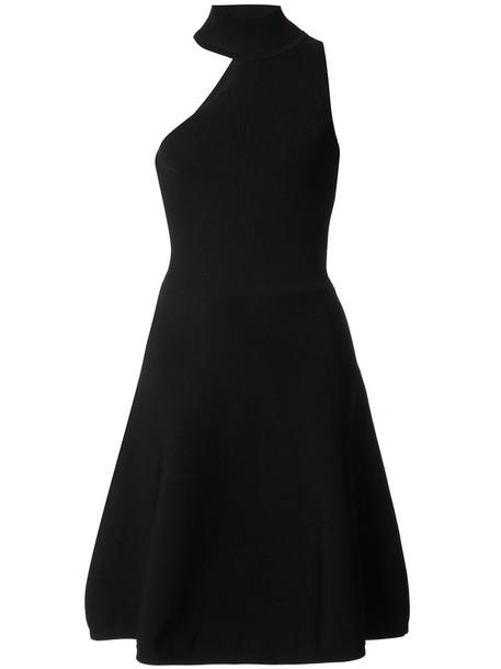 dress high women high neck black