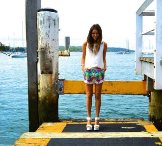 tickled pink blogger shorts shoes top jewels