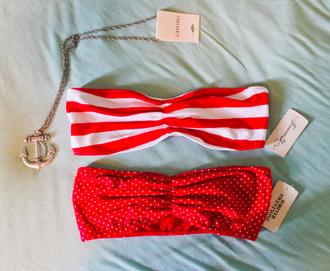 underwear bandeau red underwear