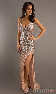 Long Sequin Prom Dresses, Primavera Sequin Formal Gowns- PromGirl